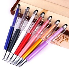 Crystal gift pen for women crystal touch stylus metal pen crystal ball pen