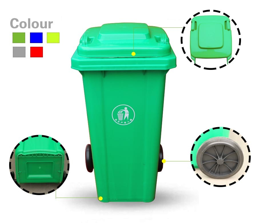 1100 Litre Wheelie Plastic Waste Bins Plastic Storage Boxes With ...