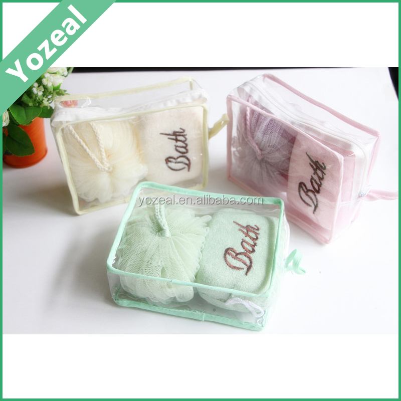 2PCS Travel bath spa gift set in pvc bag for wholesale