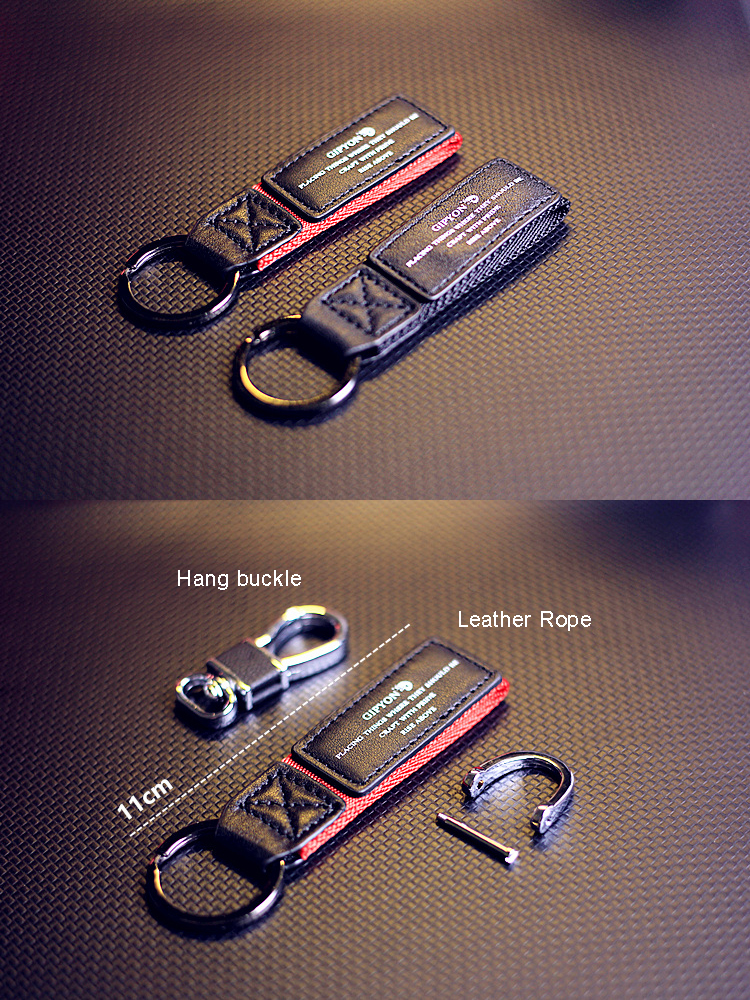 Wholesale design custom fashion leather key ring with logo