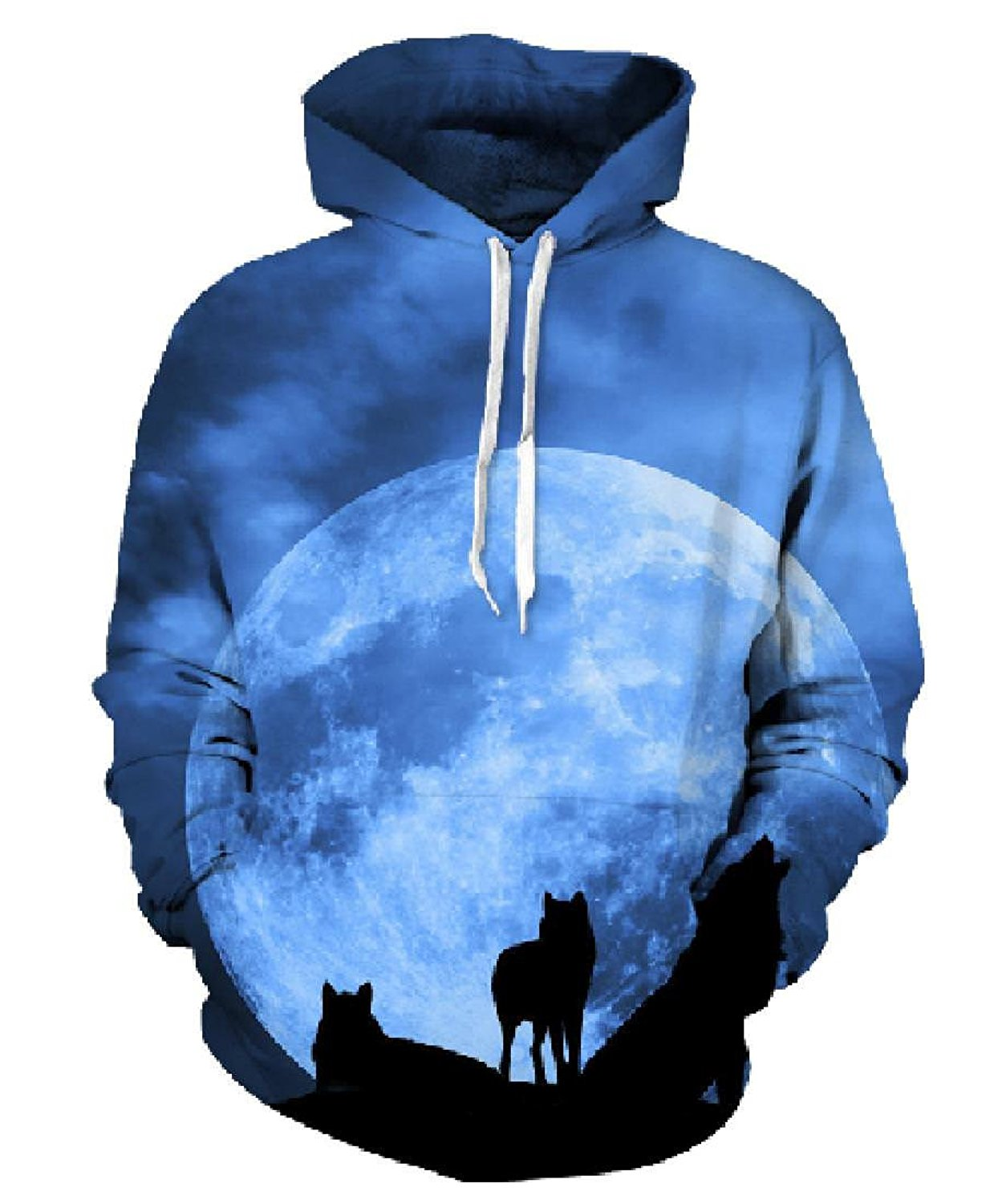 c73acf260bbd2e Get Quotations · 9YOULOVE 3D Sweatshirts Cool Wolf Hoodies Long Sleeve Pullovers  Hooded Hoody