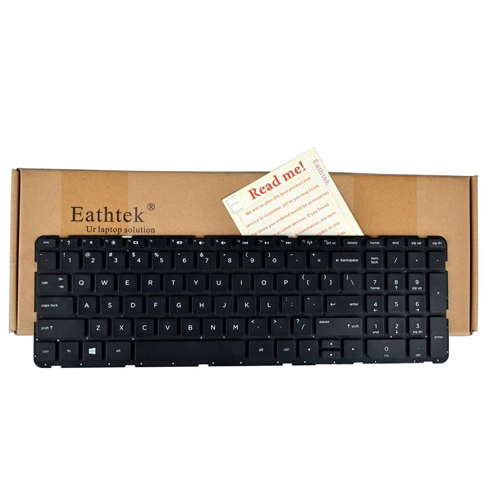 Eathtek Replacement Keyboard without Frame for HP Pavilion 15-E 15-G 15-N 15-R 15-S 15-G000 15-G100 15-g010dx 15-g010nr 15-g023ds 15-g024ds 15-g024nr 15-g025ds 15-g027ca eries Black US Layout