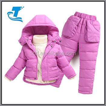 8956f7e6b Children Boys Snowsuit Girls Winter Clothing Set Down Jacket Down ...