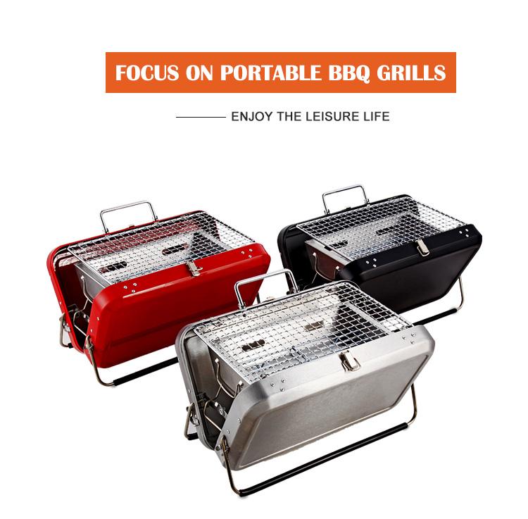 Valigia Outdoor Design In Metallo In Acciaio Inox Giapponese Coreano Campeggio Barbecue Portatile A Carbone BARBECUE Grill