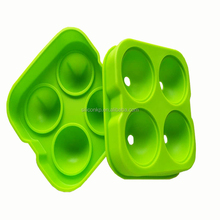 Factory wholesale ice making tools silicone round ice mold with 4 packs