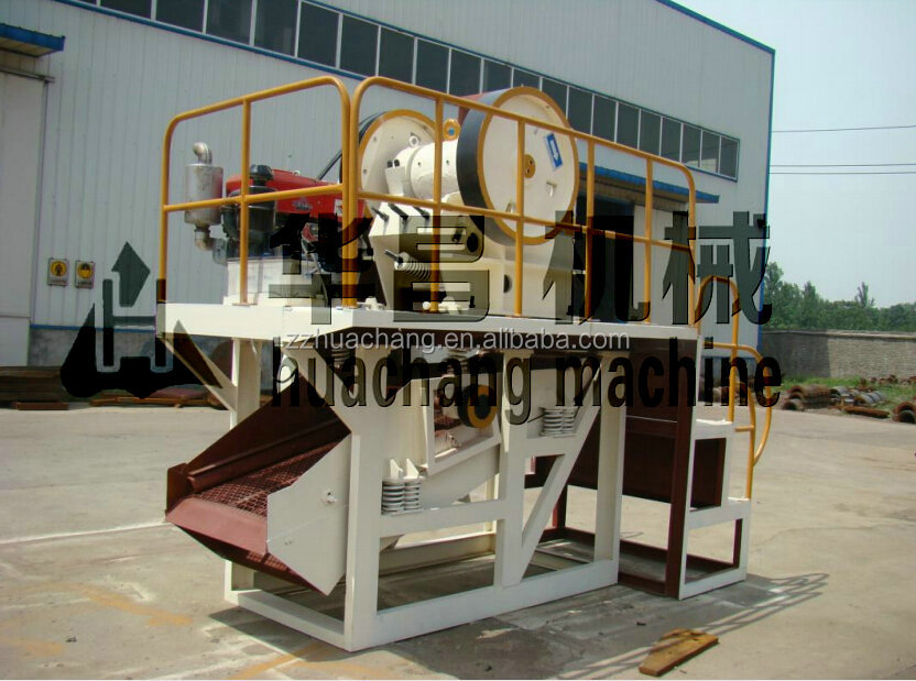 Top 1 quality Diesel engine jaw crusher /combined mobile jaw crusher unit /vibrating screen jaw crusher conveyor belt unit