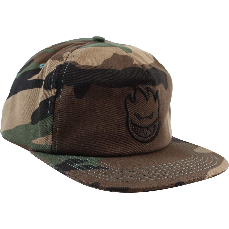 7bb3e8c64dc Get Quotations · Spitfire Wheels Bighead Camo Black Strapback Hat -  Adjustable