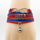 infinity love haiti Bracelet heart Charm bracelet love my motherland haiti bracelets & bangles for woman and man