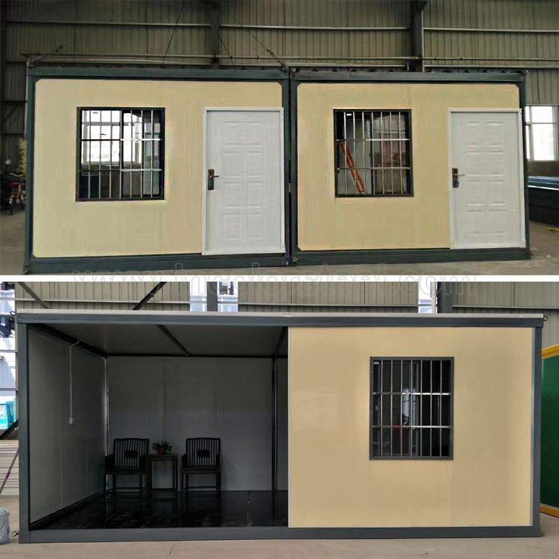 Low cost prefab container house prefabricated in nepal with insulated sandwich panels