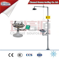 high quality wall mounted Stainless steel eyewash station