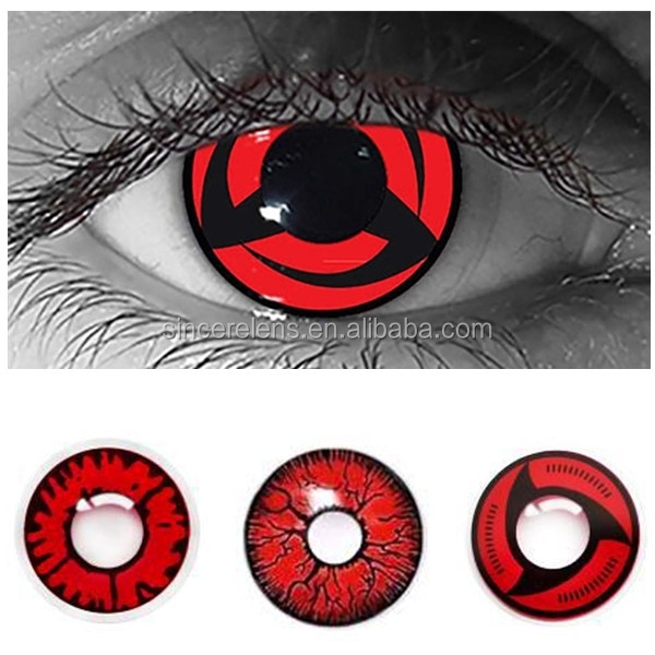 Halloween crazy red color horrible sharingan contact lenses