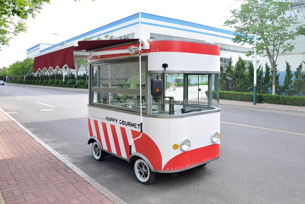 Fast Food Car For Sale Mobile Food Car Electric Mini Bus