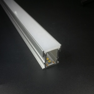 Waterproof Floor Aluminum led profile with Super strong 3mm thickness PC diffuser for 12mm strip