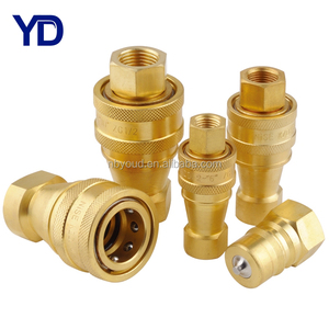 ISO7241-B hydraulic quick release coupler NPT thread coupler brass quick coupling kzd