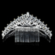 Special design excellent quality tiara Wedding Bridal Jewelry Royal silver princess rhinestone crown