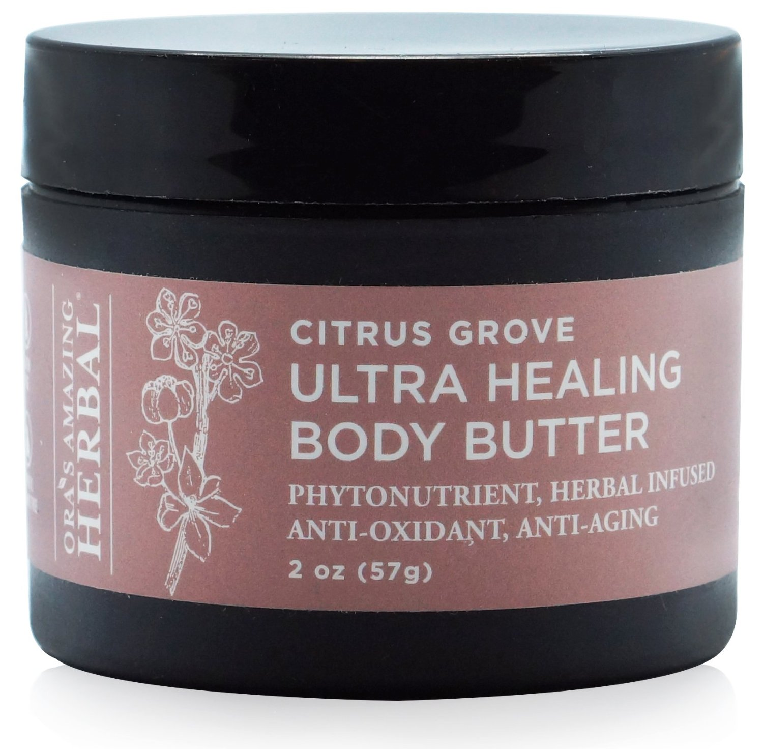 Ultra Healing Shea Body Butter and Intensive Hand Cream Moisturizer, Paraben Free (Citrus Grove Scent, 2 oz), Ora's Amazing Herbal, Organic Shea Butter, Organic Oils of Apricot, and Rosehip Seed Oil