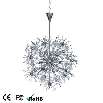 Artificial firefly glass crystal sphere flower chandelier pendant artificial firefly glass crystal sphere flower chandelier pendant light aloadofball Image collections