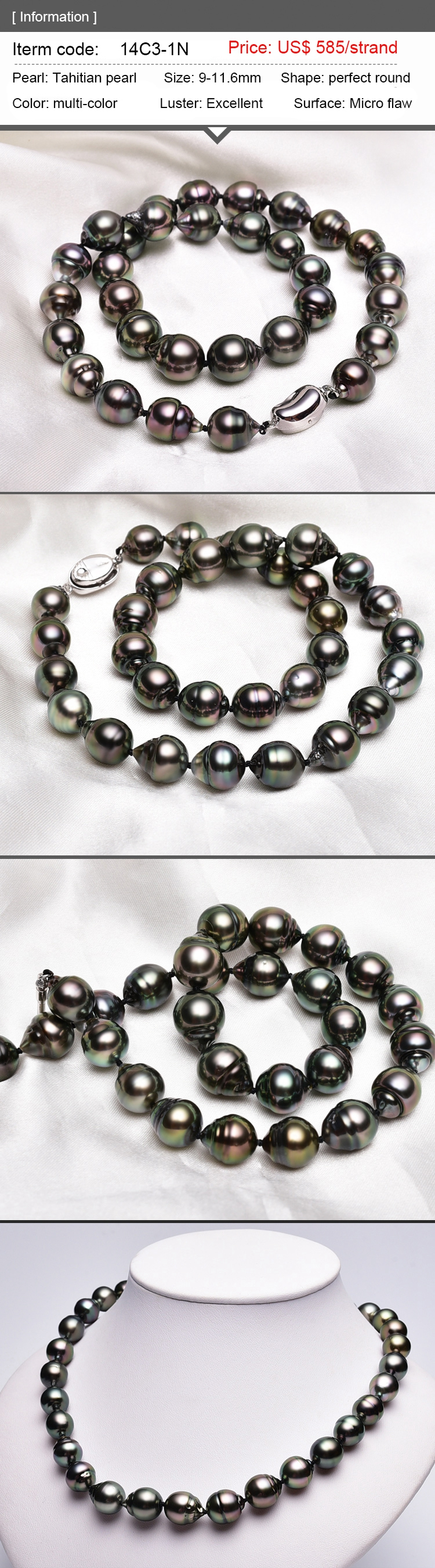 silver pearl black and sea baroque detail tahiti pearls product with from tahitian water seawater clasp necklace