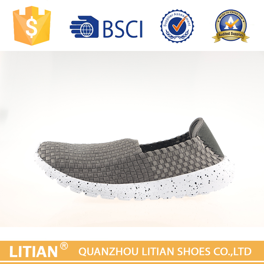 wholesale dc shoes slip on weaving shoes for men