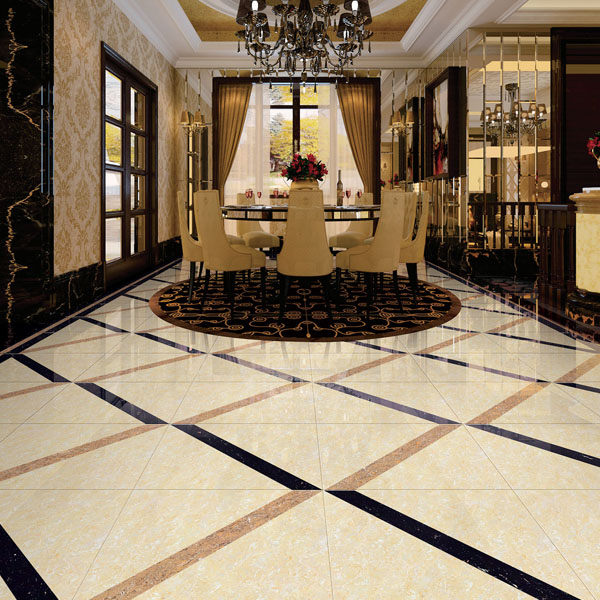 Polished porcelain interior floor vitrified tiles 800x800 Interior tile floor designs