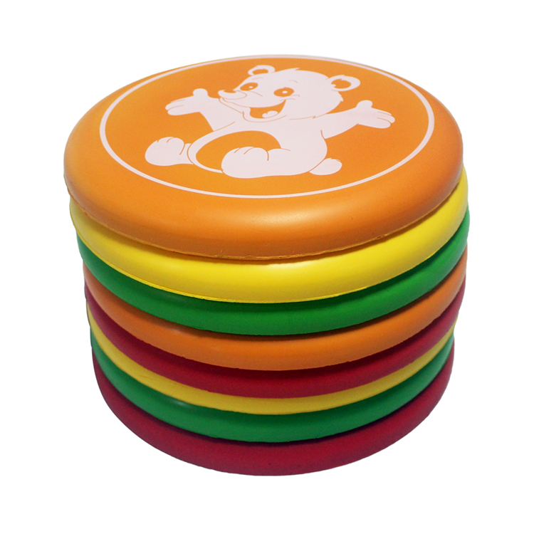 Factory wholesale PU material soft frisbees and flying saucer