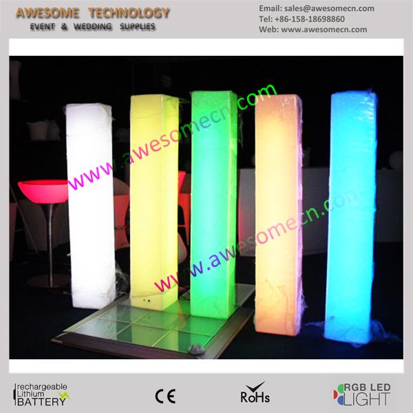 Lumino Square Perspex Led Light Pillars Illuminated Pillar Design Lighted Wedding Roman Product On
