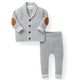 100% cotton newborn Two Pieces Bedding Leggings Set V Neck Cardigan Knit kids clothing baby clothes Sweater Winter Coat