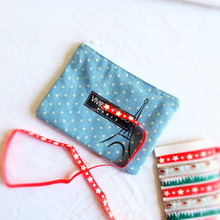fancy gift&jewelry&cosmetic cotton zipper pouch/bag