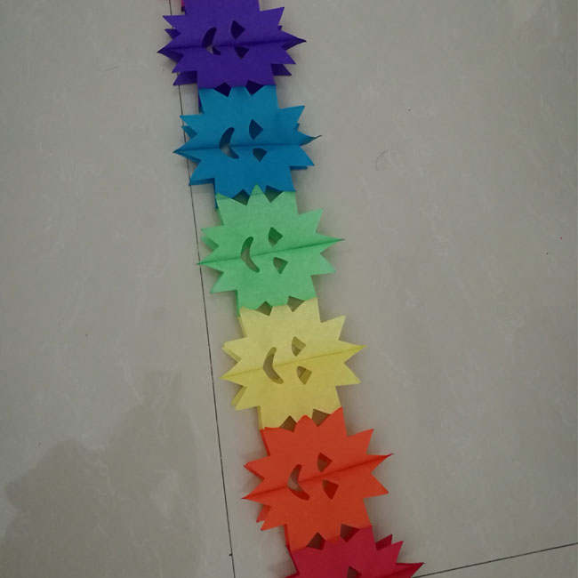 Multicolor Smile Face Paper Chain Craft For Party Decoration Buy