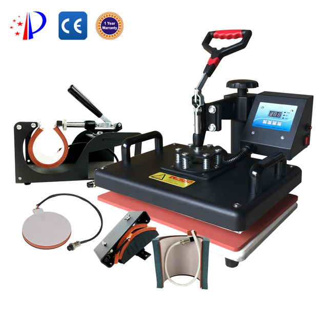 5in1 Heat press machine with two kinds of mug heater