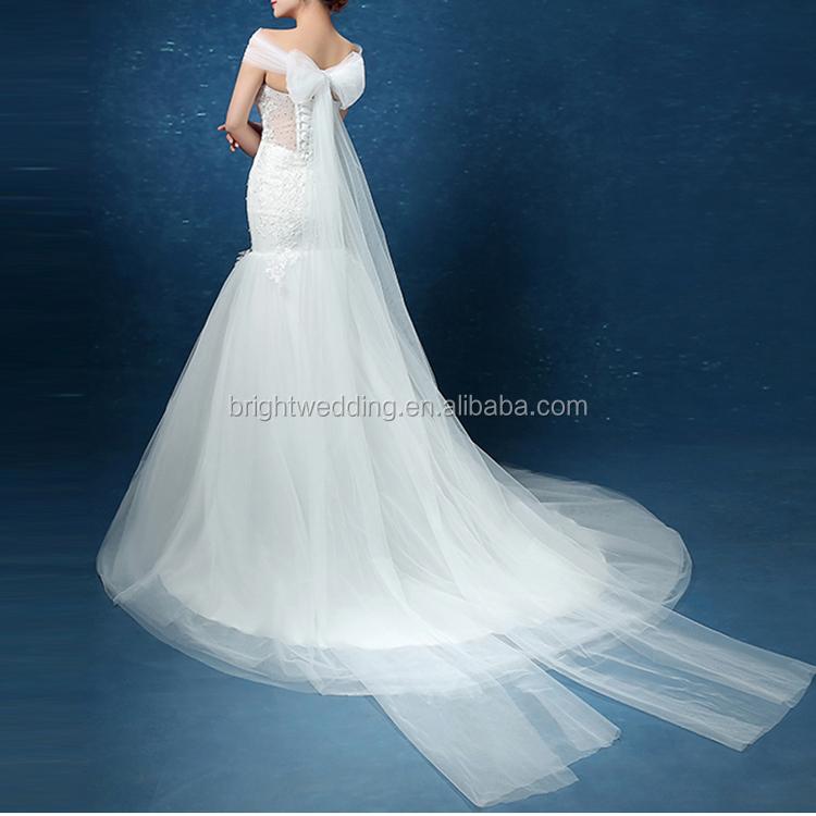 Venta al por mayor vestido de novia blanco con moño-Compre online ...