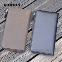 Good Quality Men Business Minimalist Cluth Phone Case Money Clip Wallet