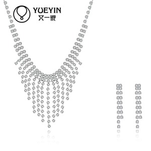 2016 modern party fashion necklace sets, fancy tissue design lady jewelry sets
