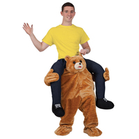 Wholesale piggyback costume mascot carry me bear costume for adult an kid