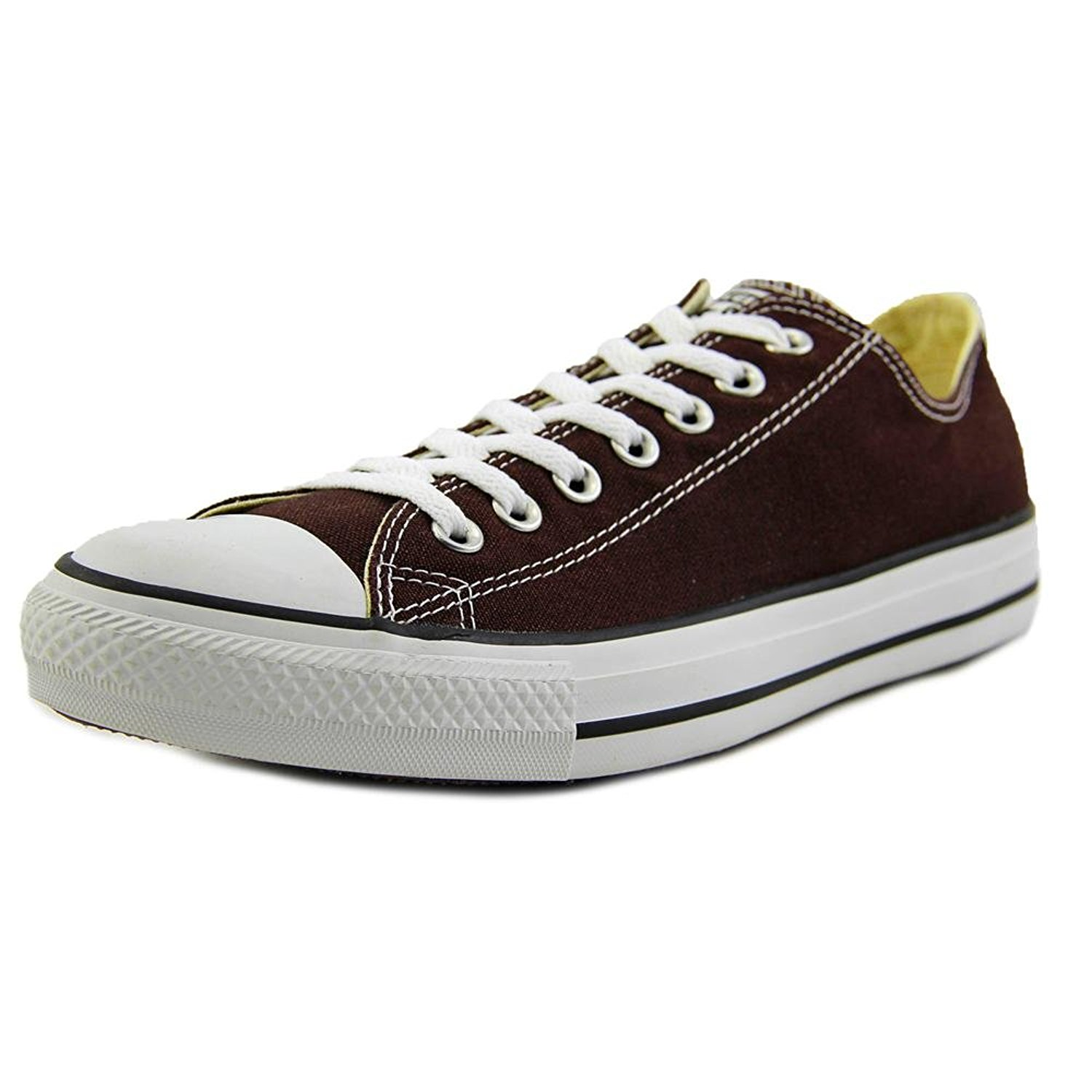 d25195f0e022 Converse Chuck Taylor All Star Ox Men Round Toe Canvas Brown Sneakers