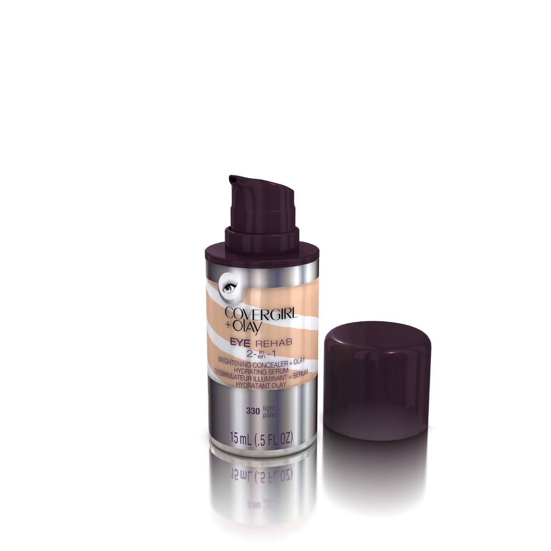 (Pack 2) CoverGirl 330 Plus Olay Eye Rehab Concealer, Light, 0.5 Fluid Ounce