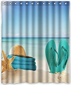 Get Quotations Funny Design Sunshine Summer Beach Flip Flops Shower Curtain 60w X 72
