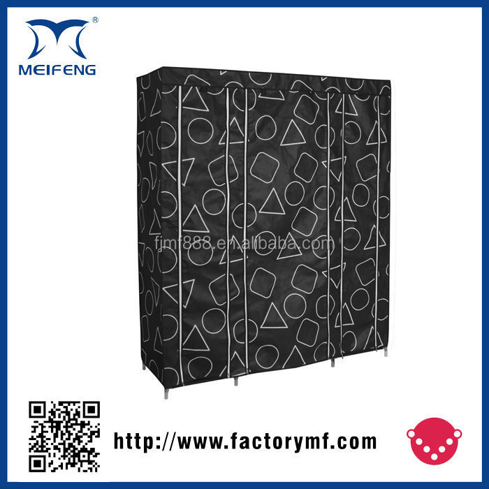 Professional factory chinese antique assemble style fabric wardrobe