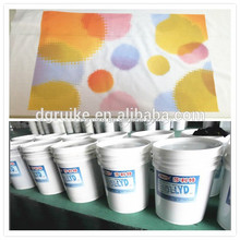 machine screen printing water based ink rubber paste for t-shirt textile manufacturer in China industry