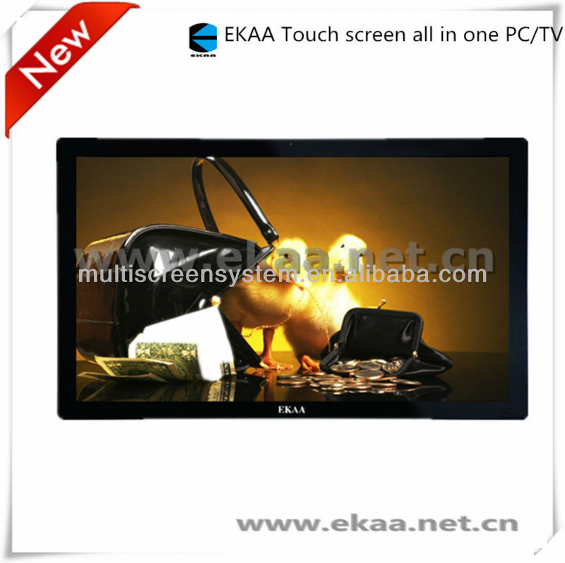55 inch all in one pc touchscreen,Embedded industrial PC with bluetooth WIFI,USB serial port