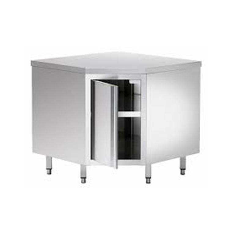 Pentagon Stainless Steel Kitchen Tool Corner Cabinet With Door