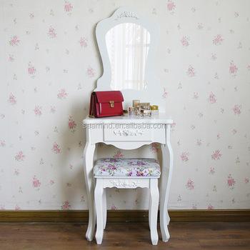 European Princess Wooden White Paint Dresser