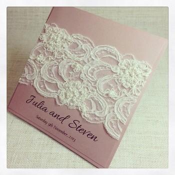 Partecipazioni Matrimonio Julia.Merletto Matrimonio In Rilievo Inviti Carte Da Sposa In Pizzo