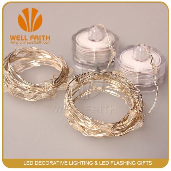 Underwater led decoration light for wedding battery powered waterproof led string lights
