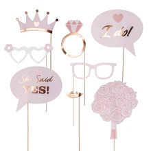 8 PCS Happy Wedding Paper photo prop