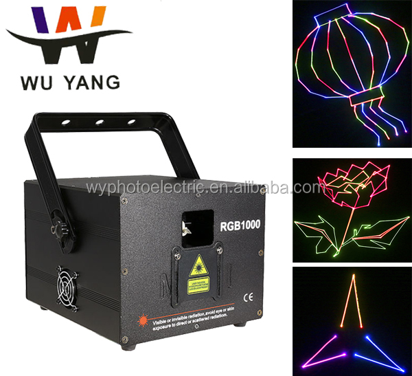 Guangzhou 2017 hot sale animation RGB laser 1000mw ILDA control