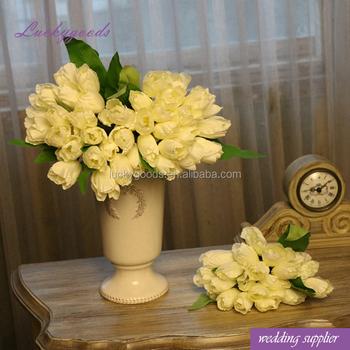 Lf564 bulk wedding banquet bridal bush artificial white tulip silk lf564 bulk wedding banquet bridal bush artificial white tulip silk flower mightylinksfo
