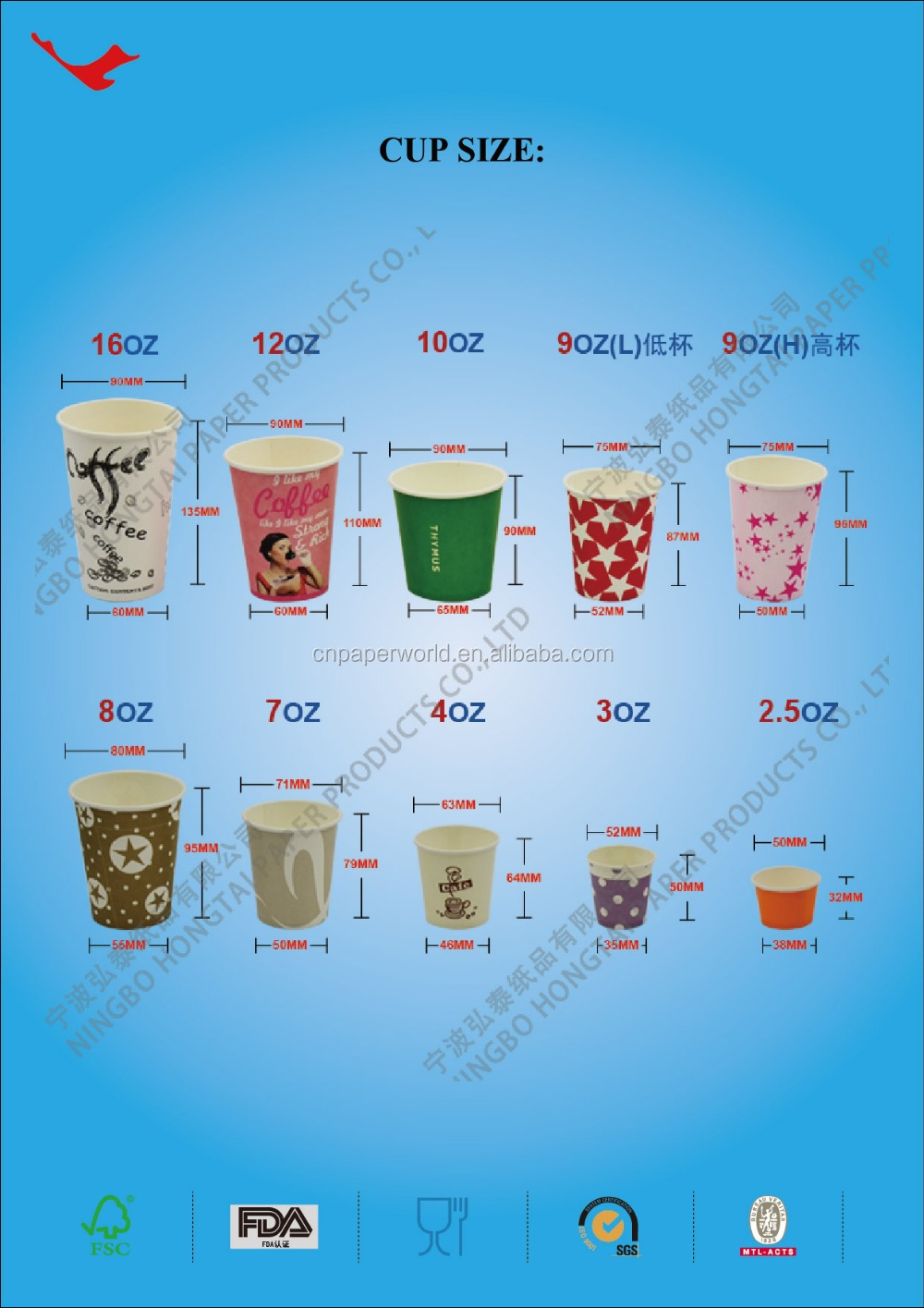 Different Size Coffee Paper Cup Wholesale Buy Different