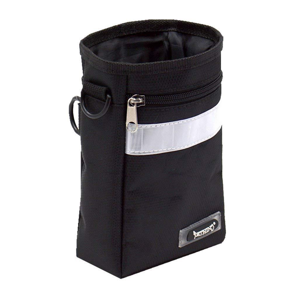 Generic Portable Pet Training Food Snack Holder Pouch Dog Treat Bag w/ Belt Black