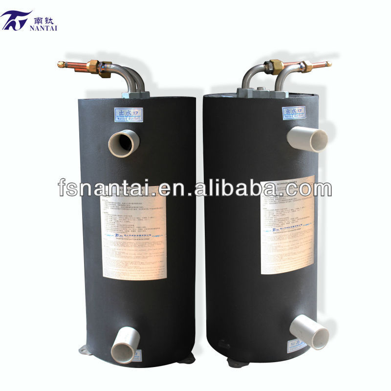 5HP Titanium Heater for Heat Pump Swimming Pool PVC Shell Heat Exchanger